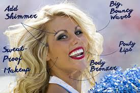 there s something iconic about the american cheerleader the big hair