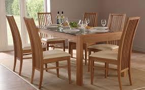 callisto newark oak gl dining set ivory seat pad