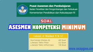 Contoh soal akm matematika smp dan pembahasannya 2021. Contoh Soal Akm Online Level 2 Kelas 3 Dan 4 Sd Cecepgaos Com