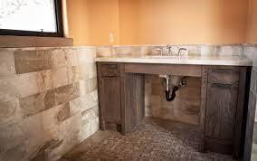 rustic stone bathroom designs. rustic bathroom and decoration using light brown stone tile simple designs