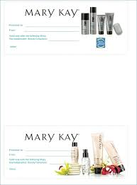 gallery of mary kay gift certificate template
