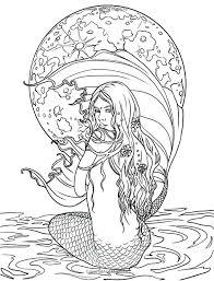 Easy Cute Mermaid Coloring Pages