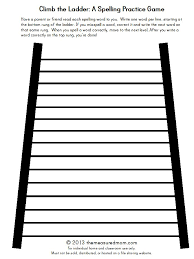 Climb the Ladder: A printable spelling game for any word list ...