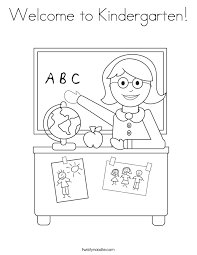 Small Picture Coloring Page Kindergarten Pages First Day Of School Christmas For