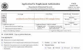 Form I765 Online Employment Authorization Document Ead 5395893 ...