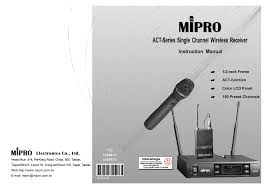 Mipro Act 707 Frequency Chart Mipro Act 707 Mc Instruction Manual Manualzz Com