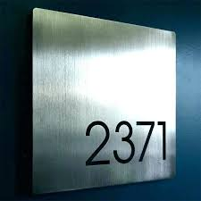 house number plaques modern glass uk