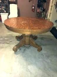 oak pedestal table antique dining round tiger pede