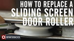 How to Replace a Sliding Screen Door Roller [1080p] - YouTube