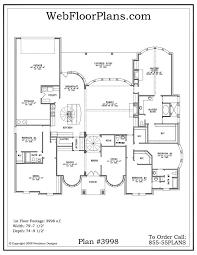 Single Story Open Floor Plans   Plan Single Level One Story Open Floor Plans For One Story Homes