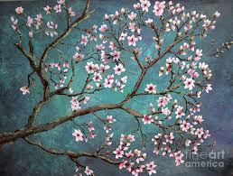 flowers painting cherry blossom by nancy bradley