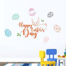 Happy Easter ไวนลรปลอกสตกเกอรตดผนง Diy Home Decor