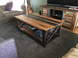 rustic coffee table plans metal legs diy lift top tryde chic farmhouse homemade wood ind tree