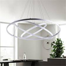 modern circular ring pendant lights 3 2 1 circle rings acrylic aluminum led lighting ceiling lamp fixtures for living room dining room canada 2019 from