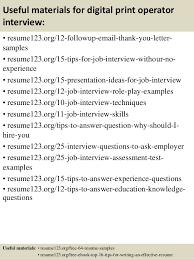 Top 8 Digital Print Operator Resume Samples Examples Print
