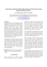 pdf performance ysis of three phase induction motor drives using delta modulation inverter