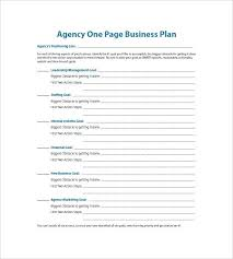 simple business model template business plan template free pdf free one page business plan template