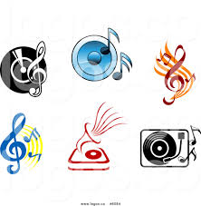 music speakers clipart. royalty free vector logos of viny records speakers and music notes clipart