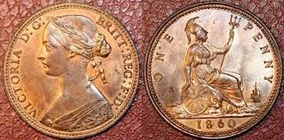 Values Of Coins Of The Uk The Penny Copper Or Bronze