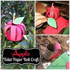 ... DIY Apple Toilet Paper Roll Craft for Kids