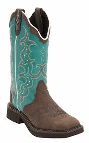 ideas about cowgirl boots on cowgirl justinreg gypsy women s distressed brown w turquoise top triad square toe western boots