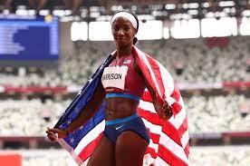 Kendra Harrison Wins Silver in 100m ...