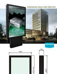 Led Light Box Display Stand rectangle billboard construction display stand design aluminium 94