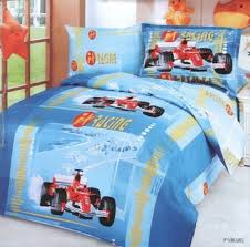 f1 blue 4 piece twin bedding blue f1 car racing junior kids