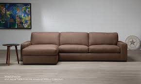 american leather leather chaise sofa