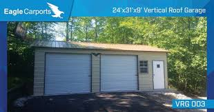 9x8 garage doorSideEntry Garage with two 9x8 roll up garage doors one 24x36