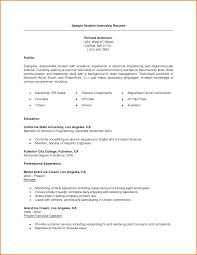 resume templates college student sample resumes internship resume examples