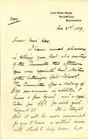 letter of appointment to miss ker ington girls school dear miss ker appointment of headmistress
