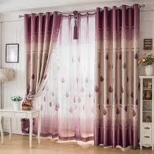 Purple Curtains For Living Room Enlfe Purple Sheer Curtain For Living Room Bedroom Hotel 1pcs 100