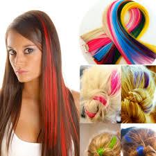 Akční Sada Barevných Clip In Pásků 7 Ks Prodlužování Vlasů A