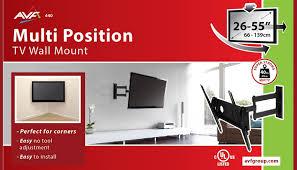 al440 multi position tv wall mount bracket up to 55 inch screen