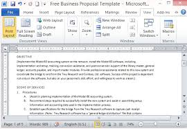 Free Business Proposal Template For Microsoft Word Awesome Proposal Template Microsoft Word
