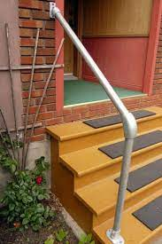 We are making hand railing that coordinates with our fencing and gates. Simple Sturdy Exterior Stair Railing Simplified Building