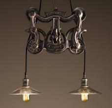 rh barn pulley light fixture to make