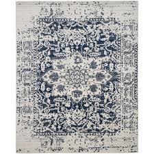 safavieh madison nord cream navy indoor distressed area rug common 12 x 18
