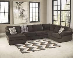 jessa place chocolate 3 piece sectional sofa