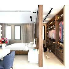 desk in closet bed
