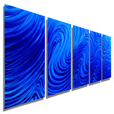 blue hypnotic sands blue five panel abstract metal wall art by jon allen 64 x 24  on blue abstract metal wall art with blue hypnotic sands blue five panel abstract metal wall art by jon