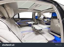 Back Seat Light Car Interior Luxury Back Seats Tables Stock Photo Edit Now