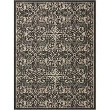9 x 13 x large charcoal gray indoor outdoor rug caribbean