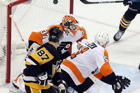 flyers win today penguins flyers game 1 recap crosby and malkin shine in blowout 7 0