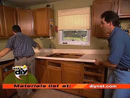 lift old countertop off once free of connections