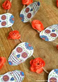 diy sugar skull banner with free printable perfect for decorating for day of
