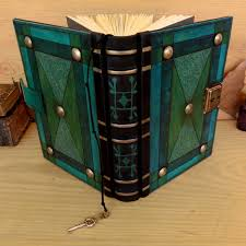 leather journal lock with key royal green blue antiqued leather the turquoise
