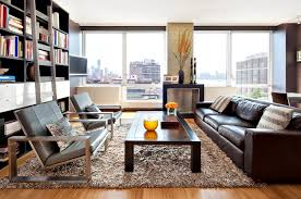 teal brown area rug living room modern with rug wall mounted tv built
