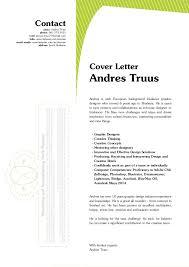 Ideas Collection Andres Truus Graphic Designer Letter Resume 2014 In